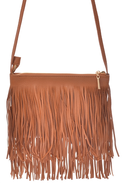 HANDBAG WITH LONG FRINGE - orangeshine.com