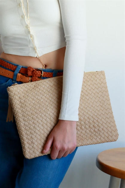 WEAVED CLUTCH PURSE - orangeshine.com