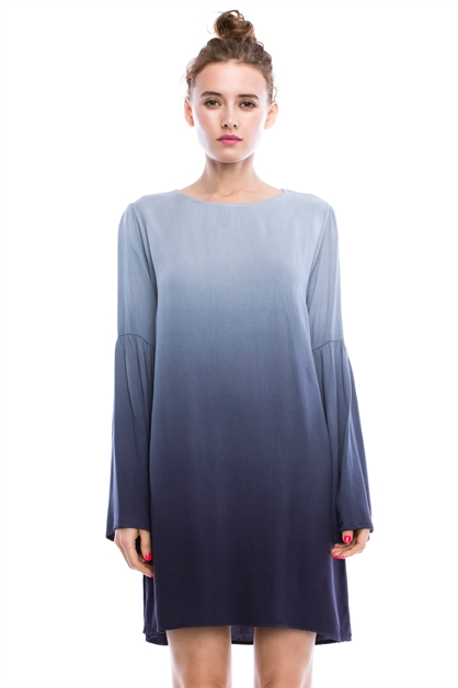 OMBRE BELL SLEEVE DRESS - orangeshine.com