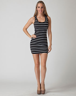 STRIPE RACER BACK DRESS - orangeshine.com