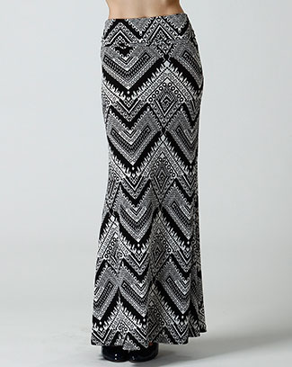 PRINT LONG SKIRT - orangeshine.com