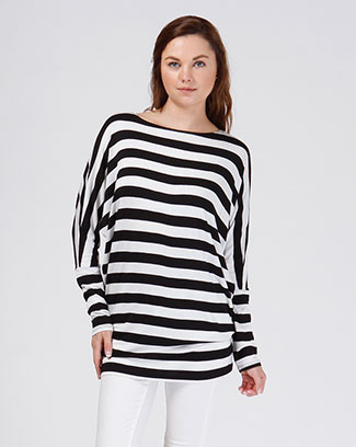 STRIPE TUNIC TOP - orangeshine.com