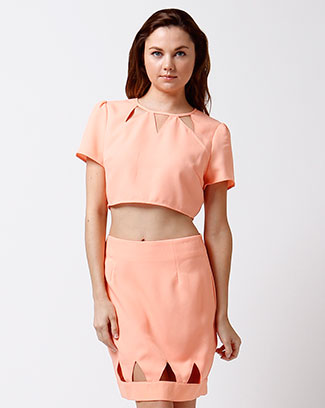 BOXY CUT CROPPED TOP - orangeshine.com