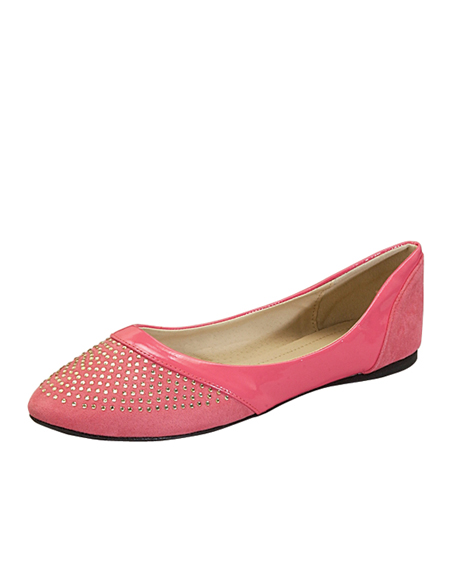 JEWELED TOE BALLERINA FLAT - orangeshine.com