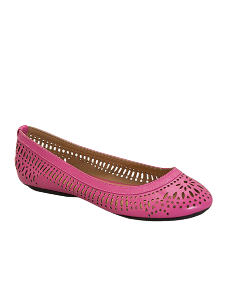 CUT OUT BALLERINA FLAT - orangeshine.com