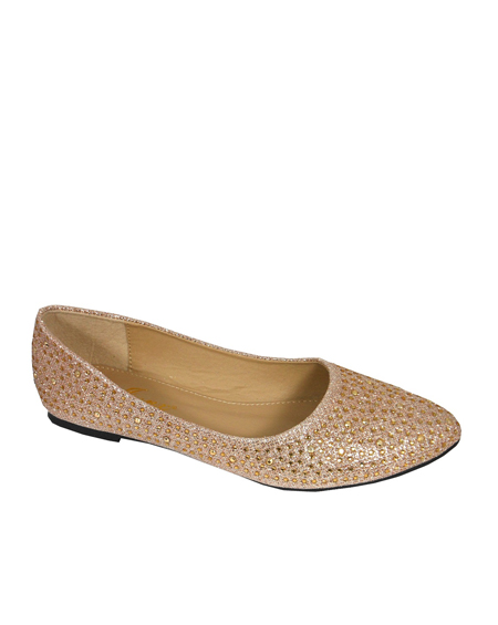 POINT TOE JEWELED FLATS - orangeshine.com