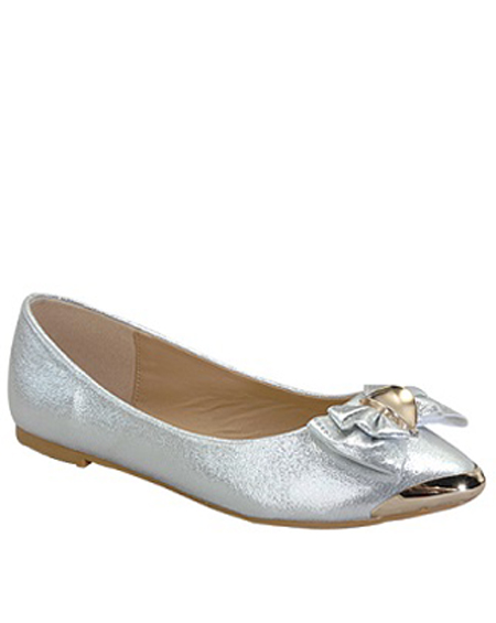 GLITTERY BALLERINA FLAT WITH BOW - orangeshine.com