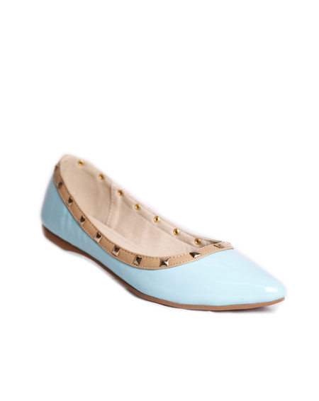 STUDDED POINTED TOE FLATS - orangeshine.com