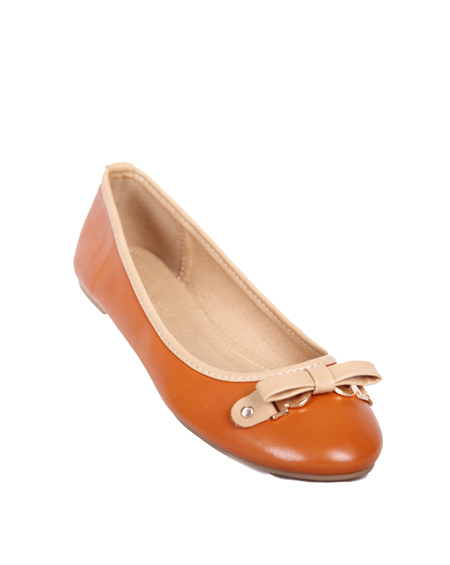SOLID BALLERINA FLATS WITH BUCKLE - orangeshine.com