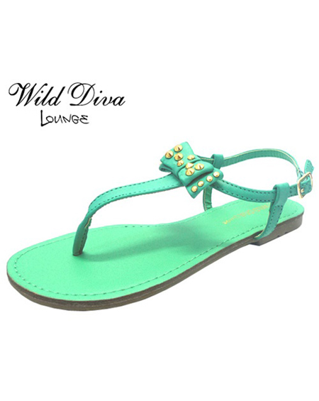 RIBBONED THONG SANDAL - orangeshine.com