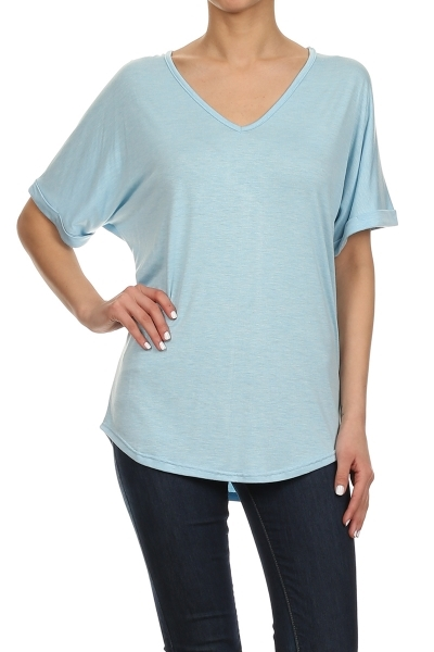 Solid top top rayon - orangeshine.com