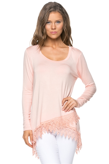 LONG SLEEVE TOP WITH DETAIL - orangeshine.com