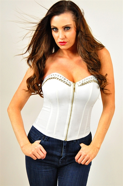 Double Chain Trim Corset - orangeshine.com