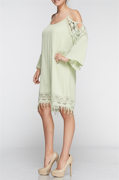 Tunic Dress with lace - orangeshine.com