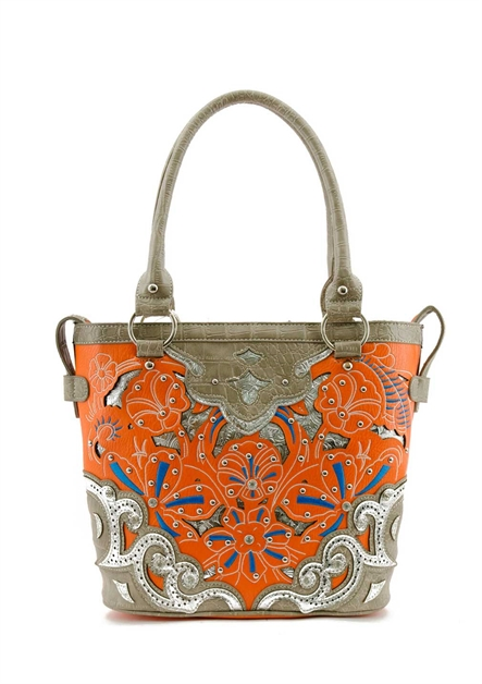 FLOWER EMBROIDERY TOTE BAG - orangeshine.com