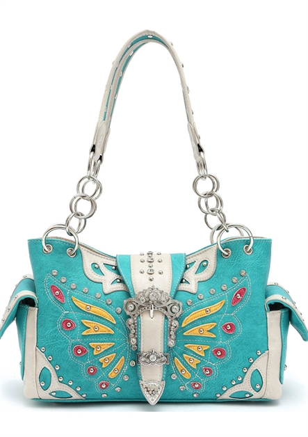 Western Butterfly Shoulder Bag - orangeshine.com