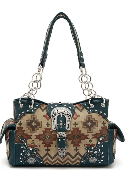 AZTEC AND STONE SHOULDER BAG - orangeshine.com