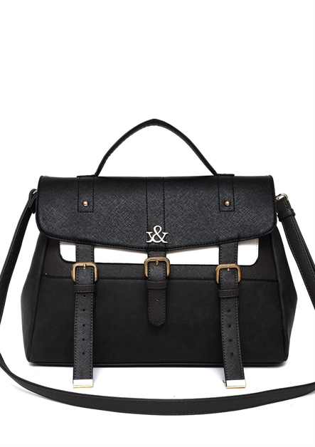 Hue and Ash Strapped Satchel - orangeshine.com