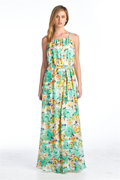 SPAGHETTI STRAP MAXI DRESS SHI - orangeshine.com