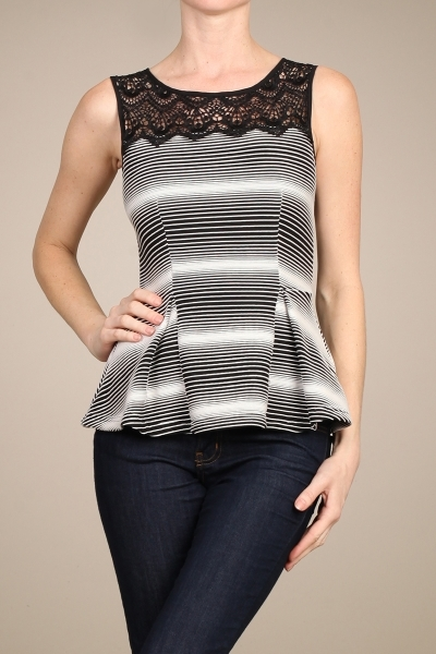 STRETCHED PEPLUM TOP - orangeshine.com