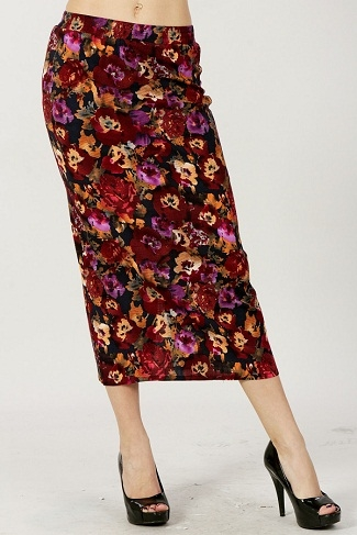 floral pencil skirt - orangeshine.com