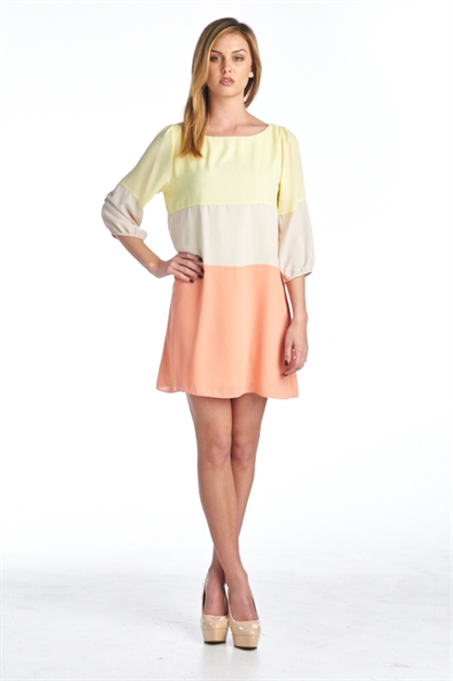 3/4 SLEEVE ROUND NECK COLOR BL - orangeshine.com