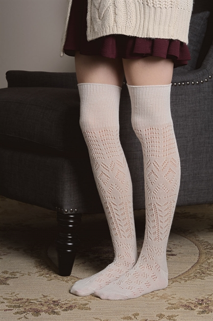 THIGH HIGH PATTERN SOCKS - orangeshine.com