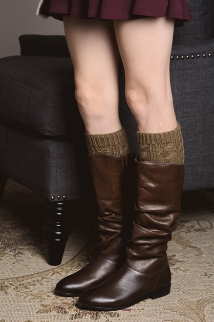 Cable Knit Bootcuff - orangeshine.com