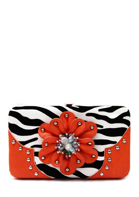 FLOWER N ZEBRA WALLET - orangeshine.com