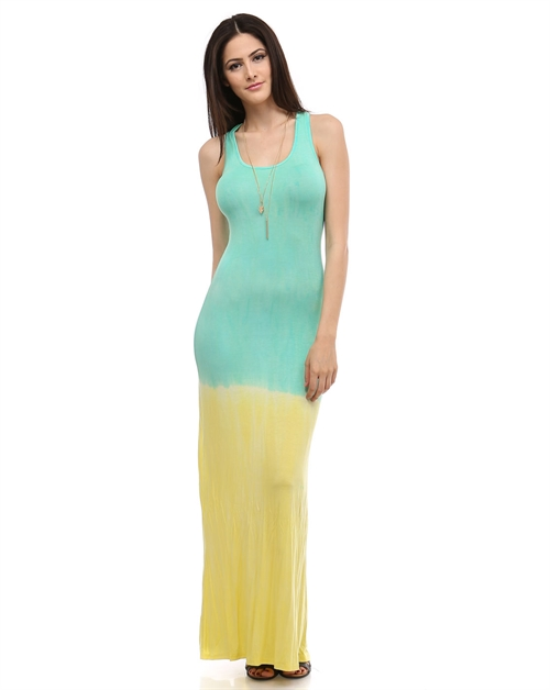 Mint/Yellow ombre maxi - orangeshine.com