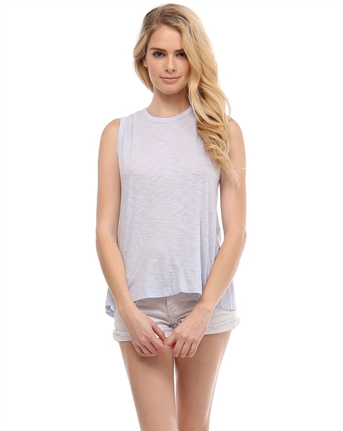 Twisted open back muscle tee - orangeshine.com