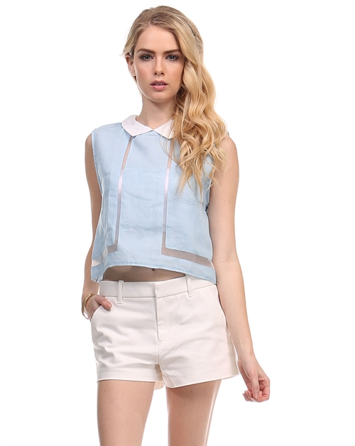 Woven Cutout Top BT2924 - orangeshine.com