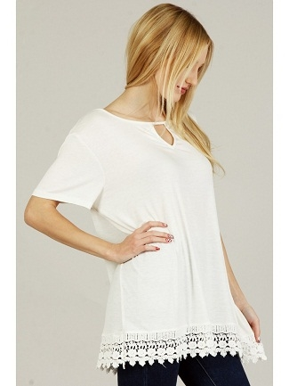 detailed bottom blouse  - orangeshine.com
