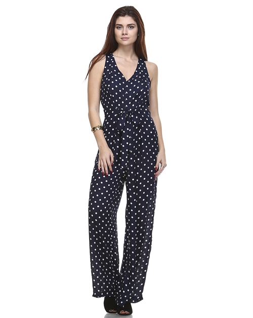 SHEER POLKA DOT JUMPSUIT - orangeshine.com