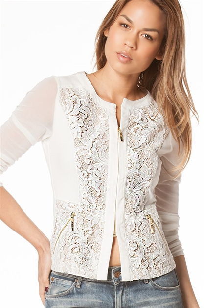 Sheer Lace Jacket - orangeshine.com