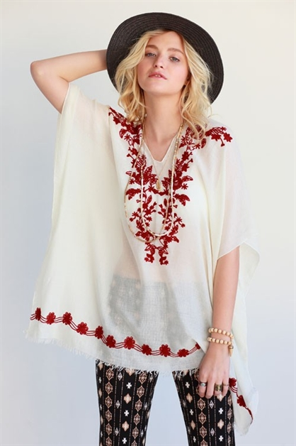 FLORAL EMBROIDERED COVER UPS - orangeshine.com