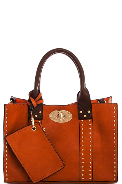 Fashion 2in1 Studed Tote Bag - orangeshine.com