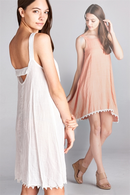 COTTON HIGH-LOW SWING DRESS - orangeshine.com