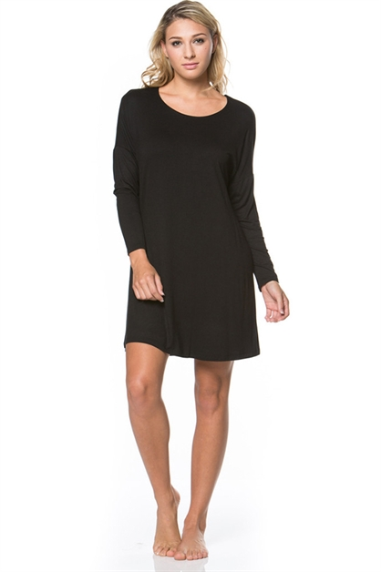 Long Sleeve Above Knee Short Dress - orangeshine.com