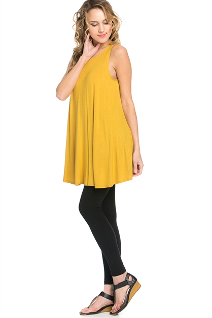 A line Sleeveless Tunic Summer Dress - orangeshine.com