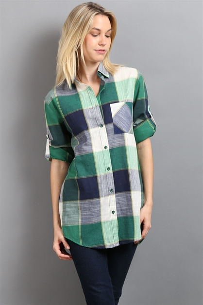PLAID SHIRT - orangeshine.com
