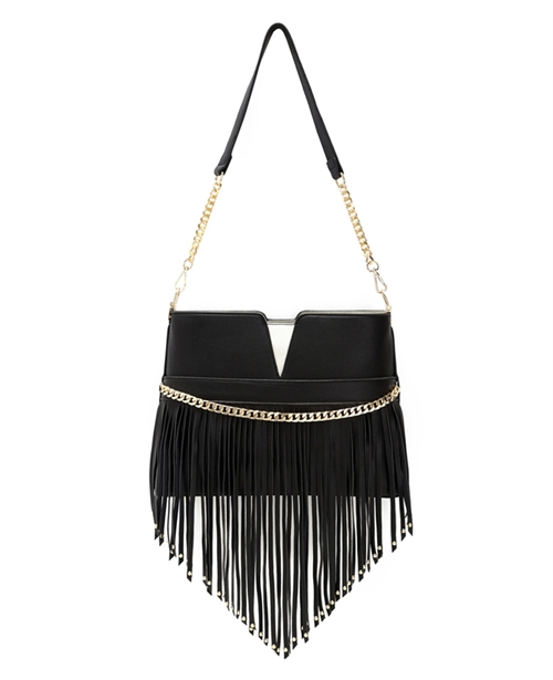 Fringed Satchel Bag - orangeshine.com