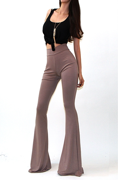 SOLID BELL BOTTOM PANTS - orangeshine.com