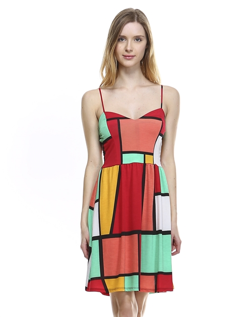 BULGARI MULTI PRINT DRESS - orangeshine.com
