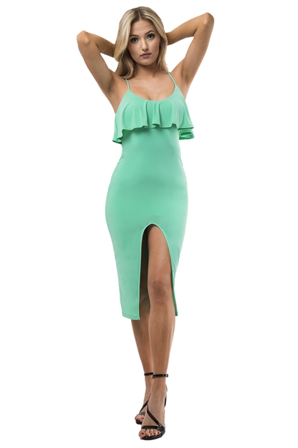 FLARE SLIT DRESS - orangeshine.com