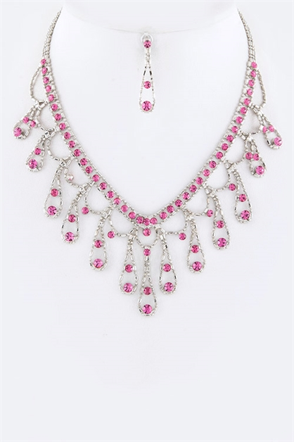 Crystal Statement Necklace - orangeshine.com