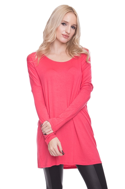 LONG SLEEVE LOOSE BASIC TOP - orangeshine.com