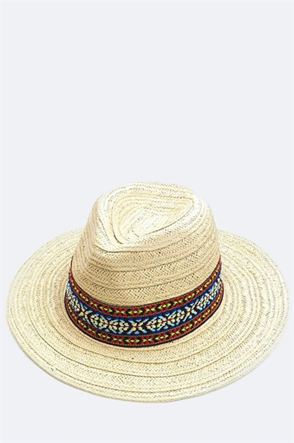 Wide Band Fashion Straw Hat - orangeshine.com
