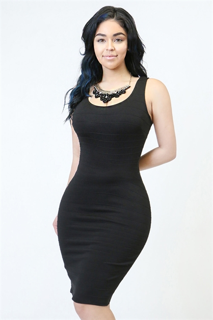 bandage bodycon dress - orangeshine.com