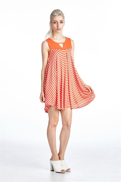 BEAUTIFUL STRIPE TUNIC - orangeshine.com